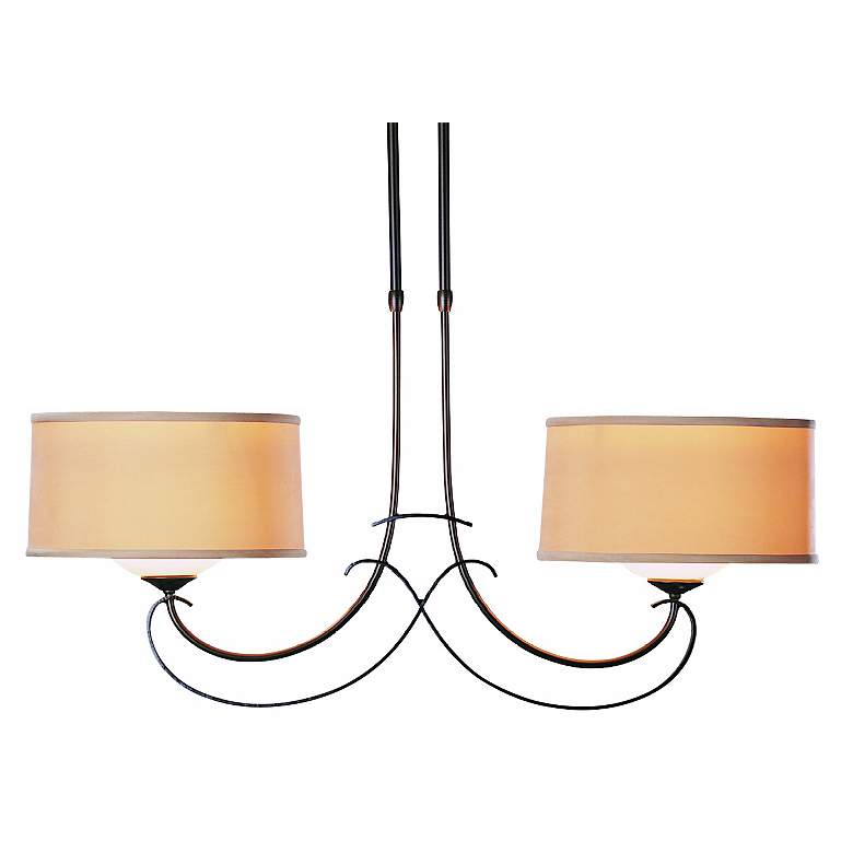 Hubbardton Forge Scrolled Duo Pendant Chandelier