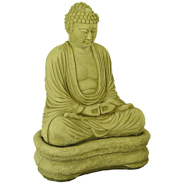 "Henri Studio Buddha on Base 22""H Olivestone Garden Accent"