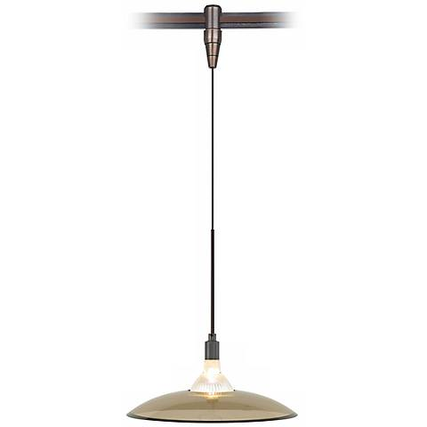 Diz Havana Brown Glass Bronze Tech Lighting MonoRail Pendant