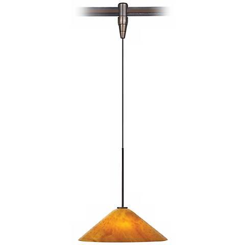 Mini Larkspur Amber Bronze Tech Lighting MonoRail Pendant