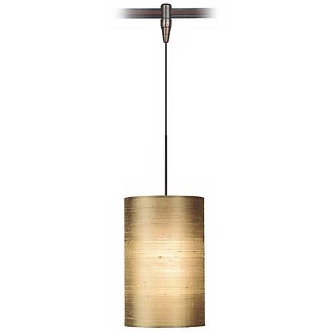 Fab Almond Silk Shade Bronze Tech Lighting MonoRail Pendant
