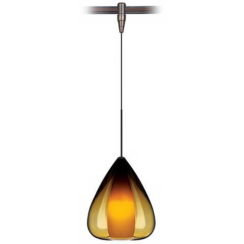 Soleil Amber Glass Bronze Tech Lighting MonoRail Pendant