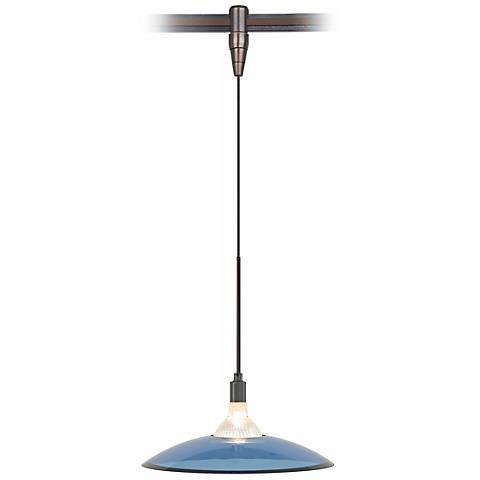 Diz Steel Blue Glass Bronze Tech Lighting MonoRail Pendant