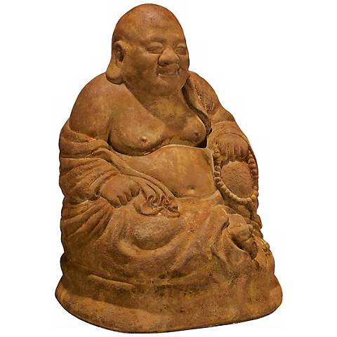 "Henri Studio Ho Tai the Laughing Buddha 14""H Garden Statue"