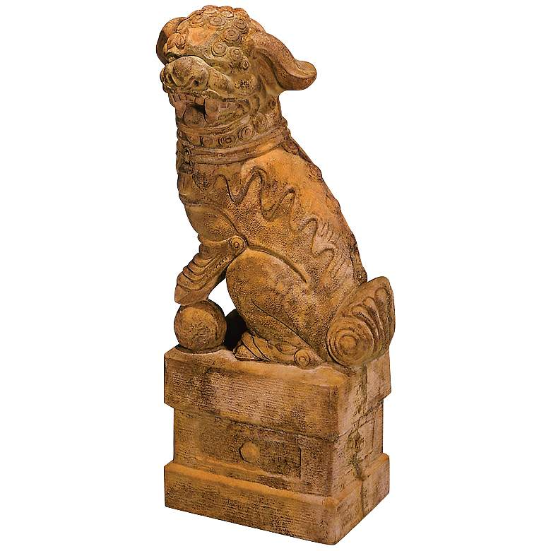 Henri Studio Large Left-Facing Foo Dog Garden Accent