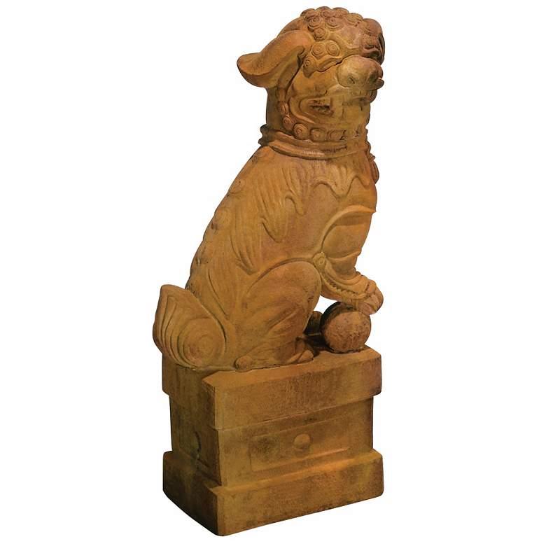 "Henri Studio Right-Facing Foo Dog 31""H Statue Garden"