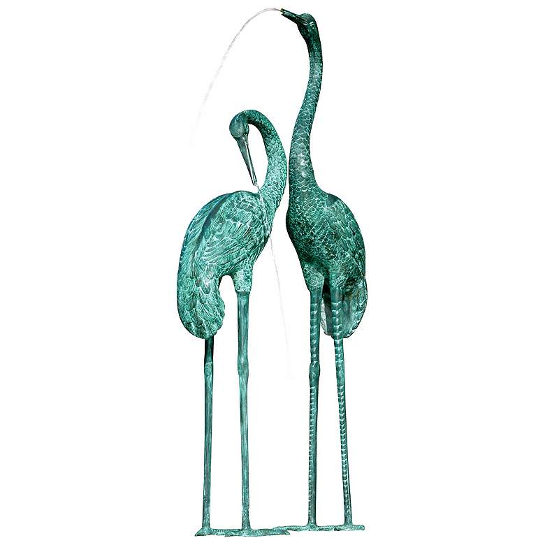 """Large Cranes 60"""" High Water Spitter Pond Fountain"""