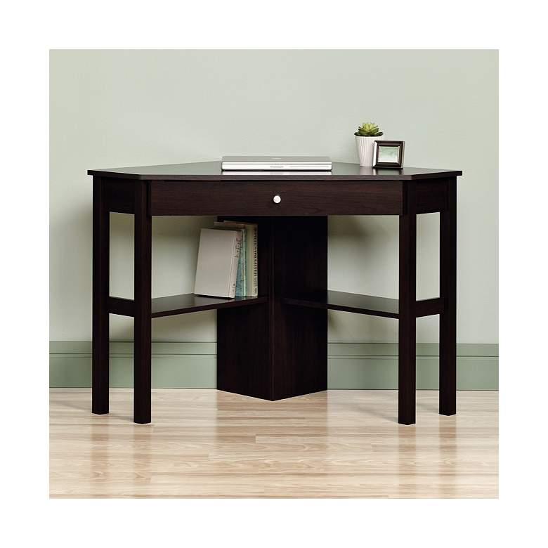"""Beginnings 46"""" Wide Cinnamon Cherry Corner Computer Desk"""