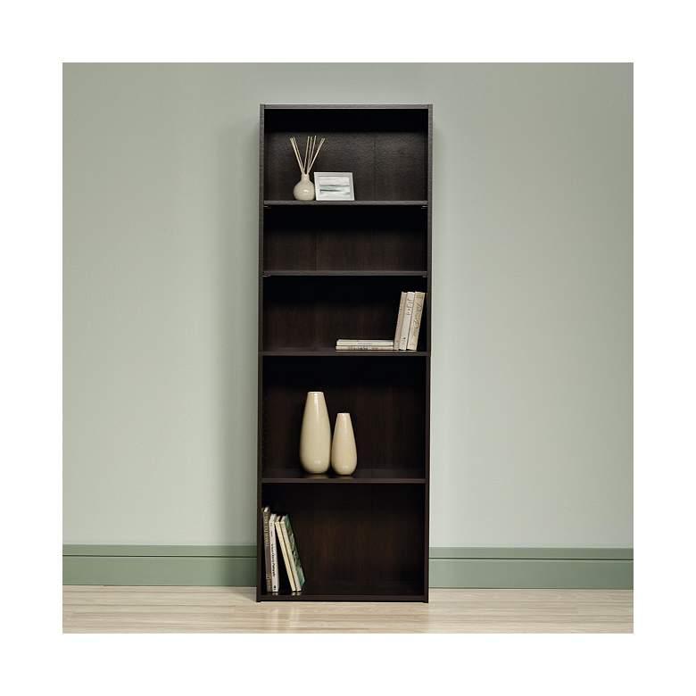 "Beginnings 71 1/4"" High Cinnamon Cherry 5-Shelf Bookcase"