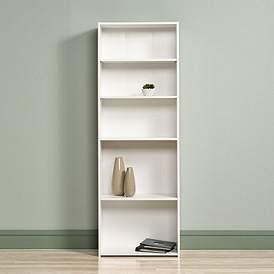 Sauder BeginningsR Soft White 5 Shelf Bookcase