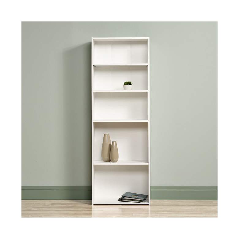 "Beginnings 71 1/4"" High Soft White Finish 5-Shelf Bookcase"