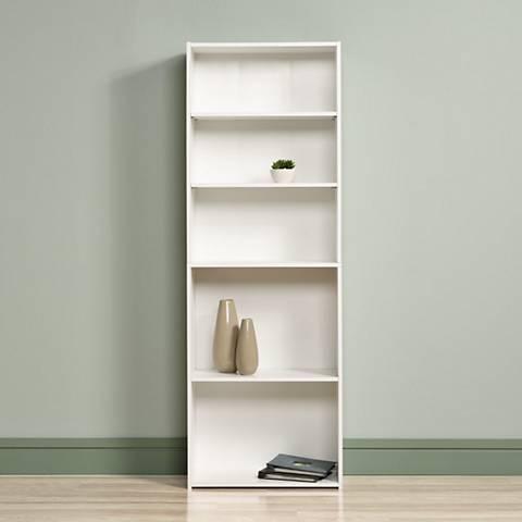 Sauder Beginnings® Soft White 5-Shelf Bookcase