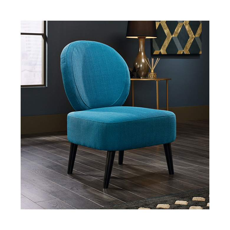International Lux Maya Pacific Blue Fabric Accent Chair