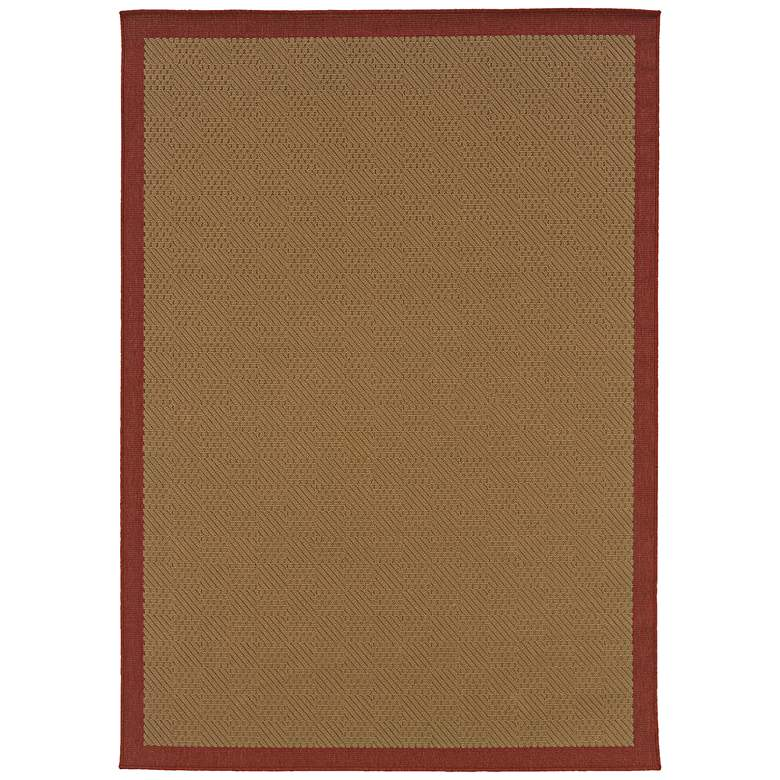 Lanai 525O8 Beige and Red Outdoor Area Rug