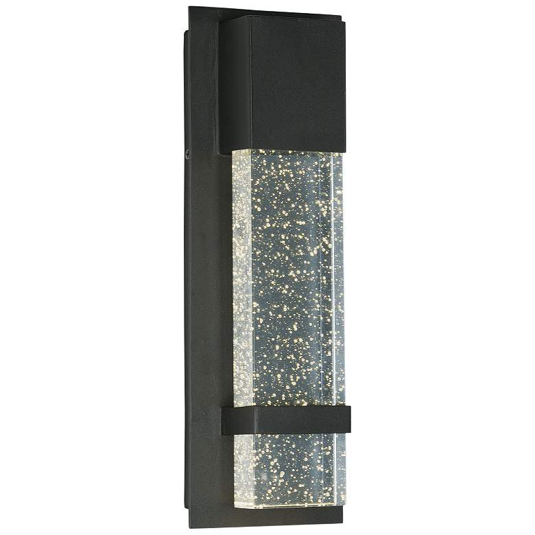 "Maxim Cascade 13 3/4""H Black Small LED Outdoor Wall Light"