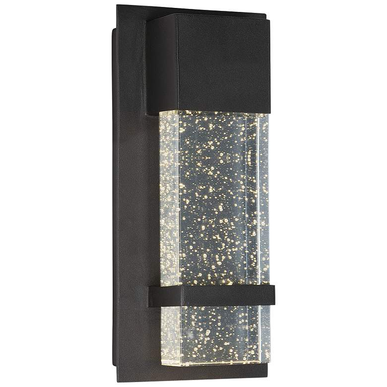 "Maxim Cascade 13 3/4""H Black Large LED Outdoor Wall Light"