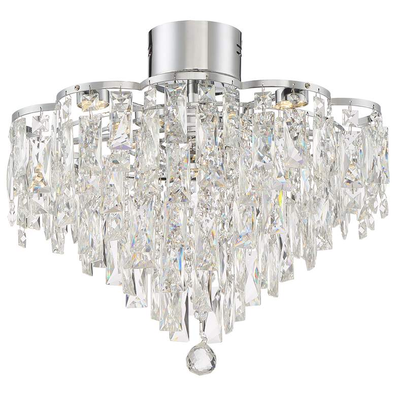 """Villette 19 3/4"""" Wide Chrome Flushmount LED Ceiling Light"""