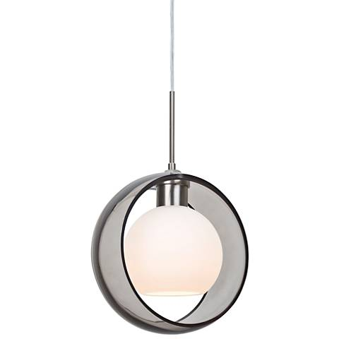 "Besa Mana 9"" Wide Satin Nickel Mini Pendant"