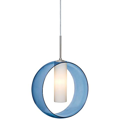 "Besa Plato 12"" Wide Satin Nickel Mini Pendant"