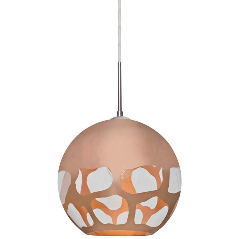 "Besa Rocky 10"" Wide Satin Nickel Mini Pendant"