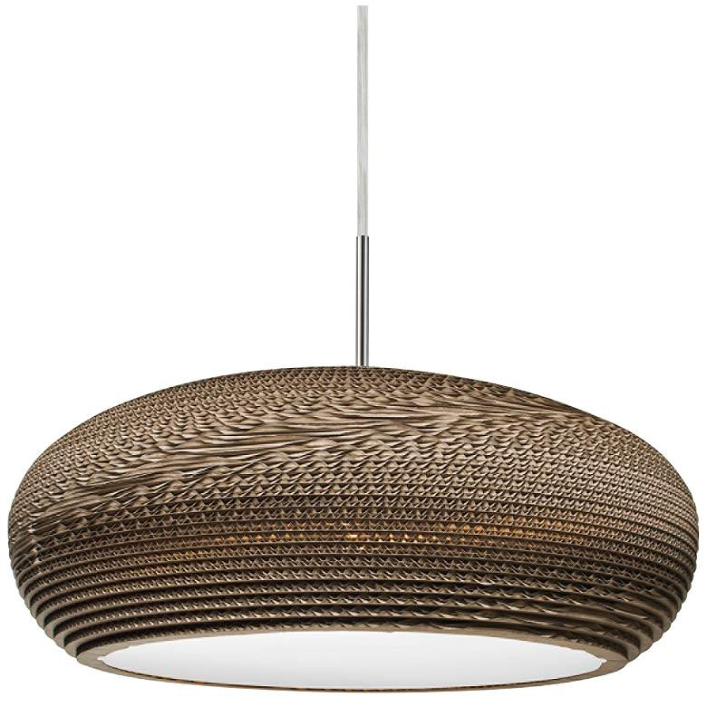 "Besa Venus 17 3/4"" Wide Cardboard LED Pendant"