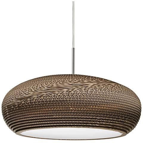 """Besa Venus 17 3/4"""" Wide Cardboard LED Pendant Light"""