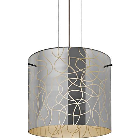 """Besa Lithium 11 3/4"""" Wide Bronze Mini Pendant"""
