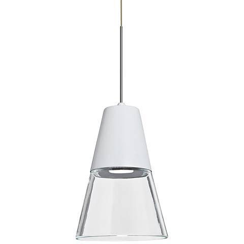 "Besa Timo 6"" Wide Satin Nickel LED Mini Pendant"