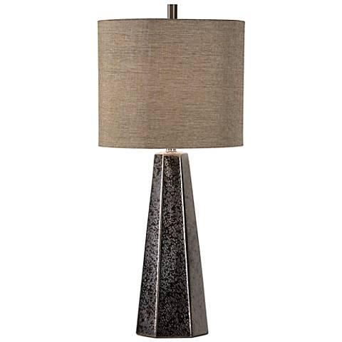 Wildwood Antonella Textured Bronze Glaze Ceramic Table Lamp