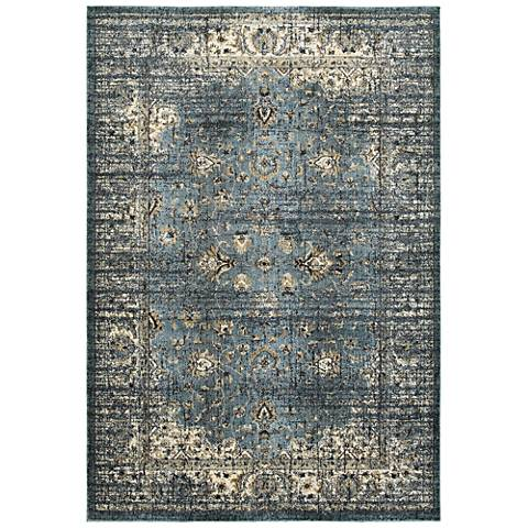 Empire 114L4 Blue and Ivory Area Rug