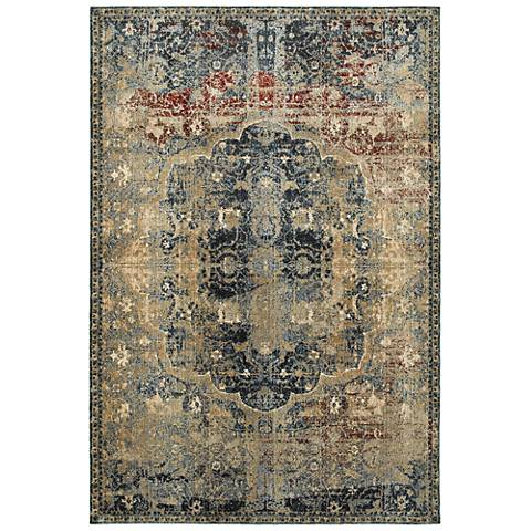 Empire 4449H Gold and Blue Area Rug