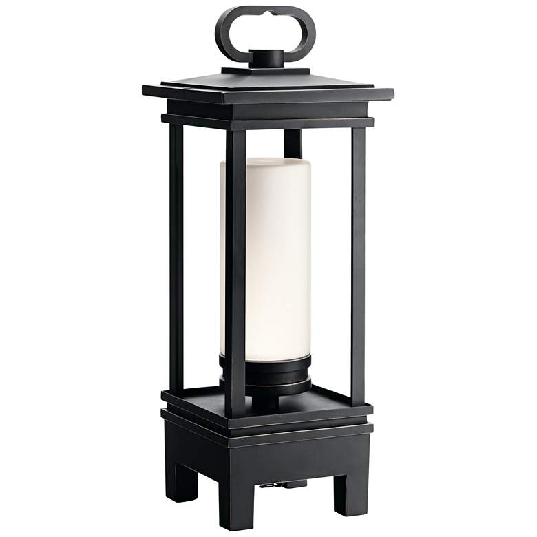 """South Hope 19""""H Portable LED Lantern with Bluetooth"""