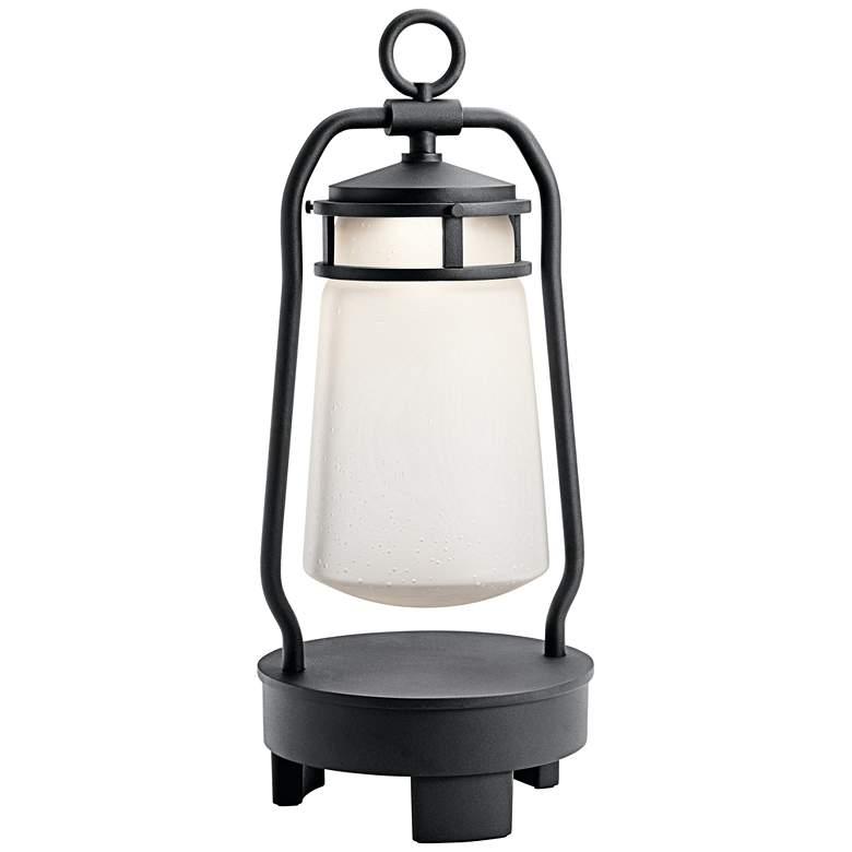 Lyndon Black Portable LED Lantern with Bluetooth Speaker