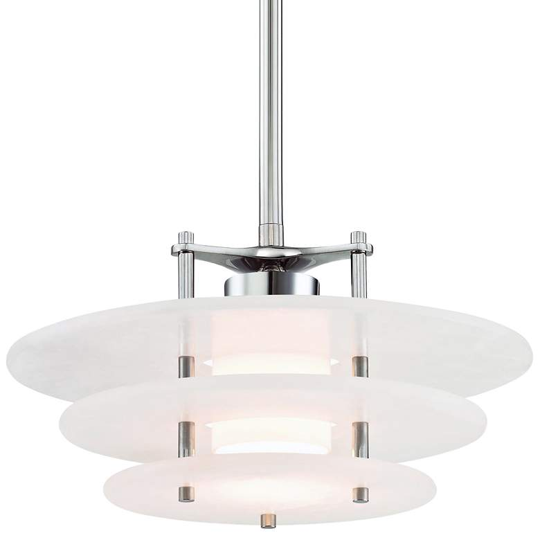"Gatsby 15 3/4"" Wide Polished Nickel LED Pendant"