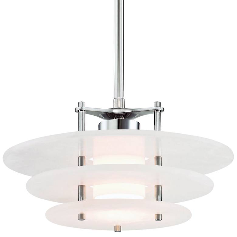 "Gatsby 15 3/4"" Wide Polished Nickel LED Pendant Light"