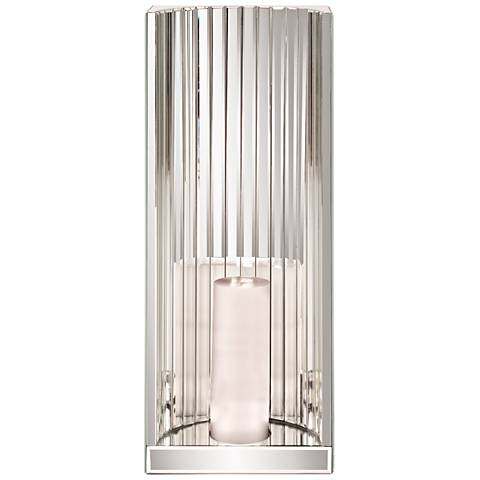 Talia Mirrored Glass Pillar Candle Holder Wall Sconce