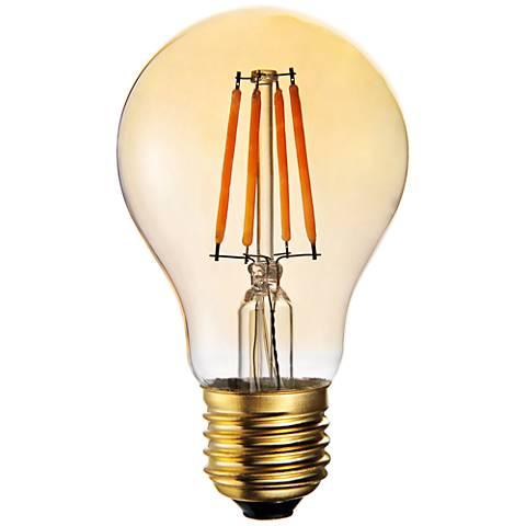 60W Equivalent Amber 7W LED Filament A19 Standard Bulb