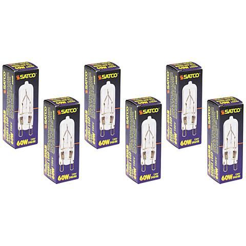 6-Pack Satco 60 Watt G9 120 Volt Clear Halogen Light Bulbs