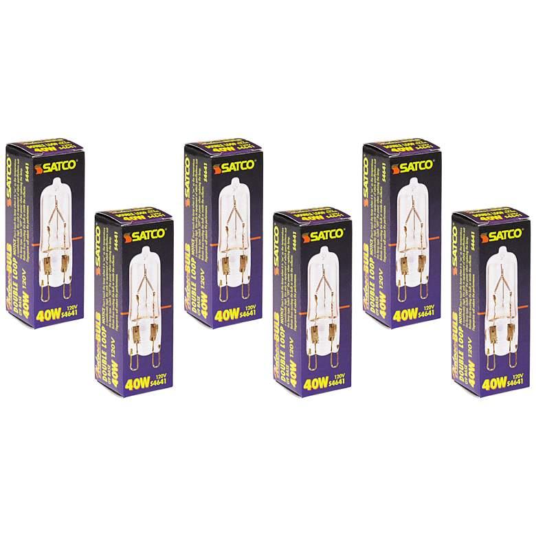 6-Pack Satco 40 Watt G9 120 Volt Clear
