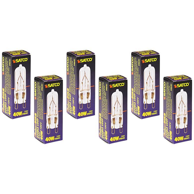 6-Pack Satco 40 Watt G9 120 Volt Clear Halogen Light Bulbs