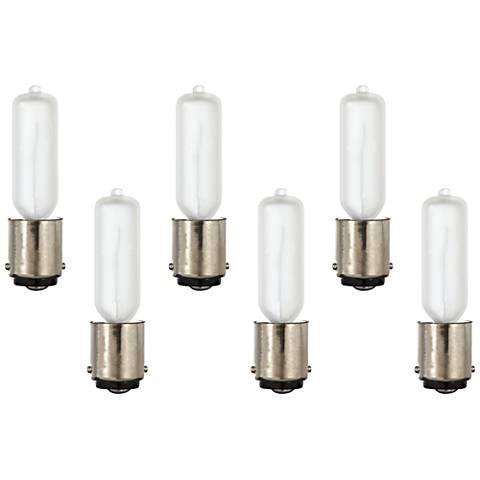 6-Pack 50 Watt Xenon Frosted Double Contact Bulbs