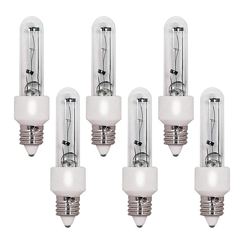 6-Pack 100 Watt Halogen T4 Mini-Candelabra Light Bulbs