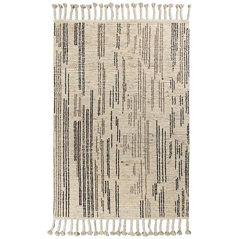 Austin 222 Natural Stitches Wool Area Rug