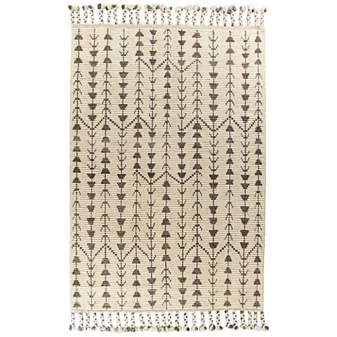 Austin 224 Ivory Santa Fe Wool Area Rug