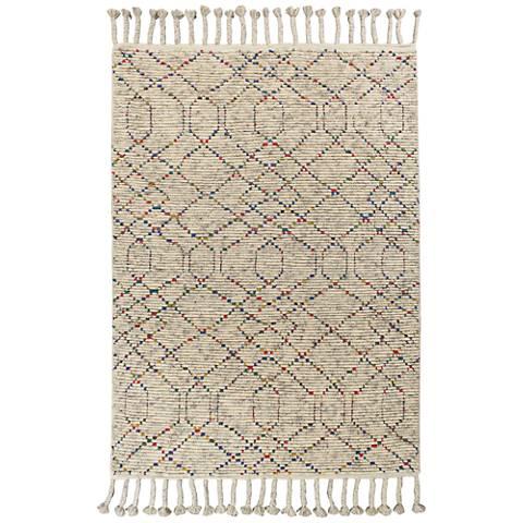 Austin 225 Natural Boho Wool Area Rug