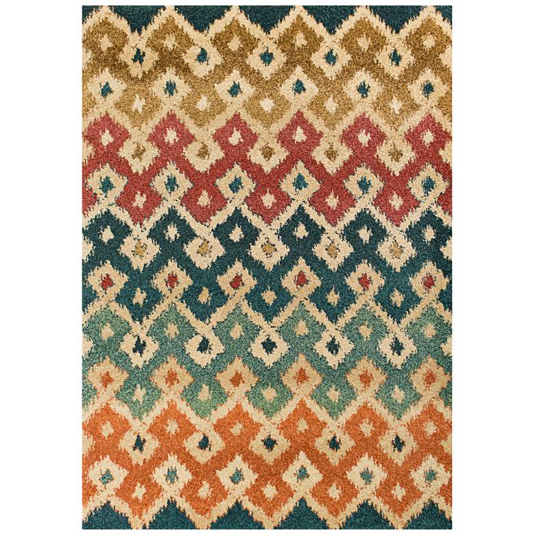 "Barcelona 4472 5'3""x7'7"" Multi-Color Villa Area Rug"