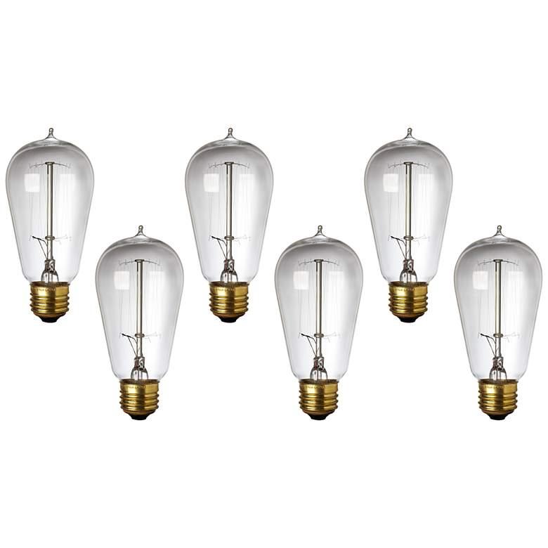 6-Pack 40 Watt Edison Style Medium Base Light