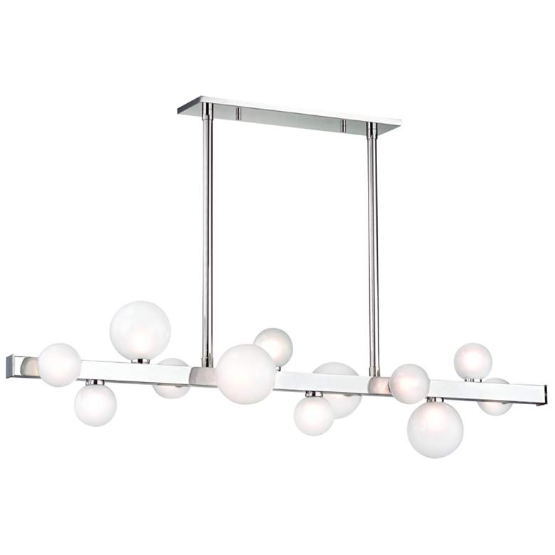"Hinsdale 44 1/2""W Nickel LED Kitchen Island Light"