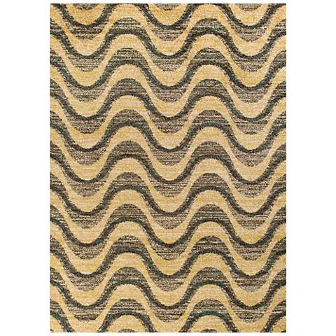 Barcelona 4477 Gray and Sand Isla Area Rug