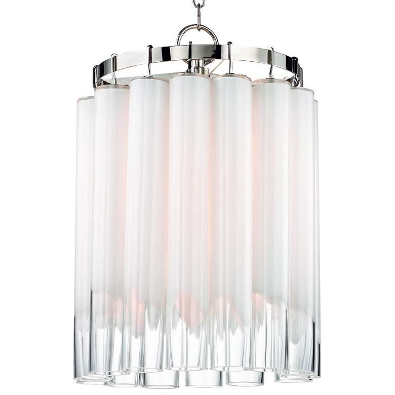 "Hudson Valley Tyrell 16 1/4""W Polished Nickel Pendant Light"